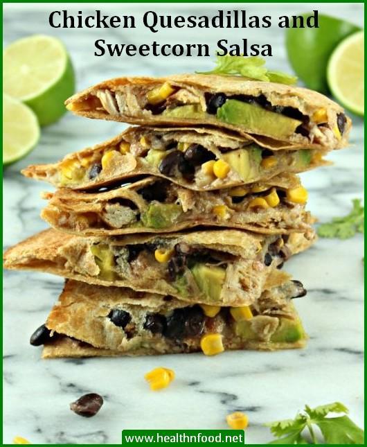 Chicken Quesadillas and Salsa