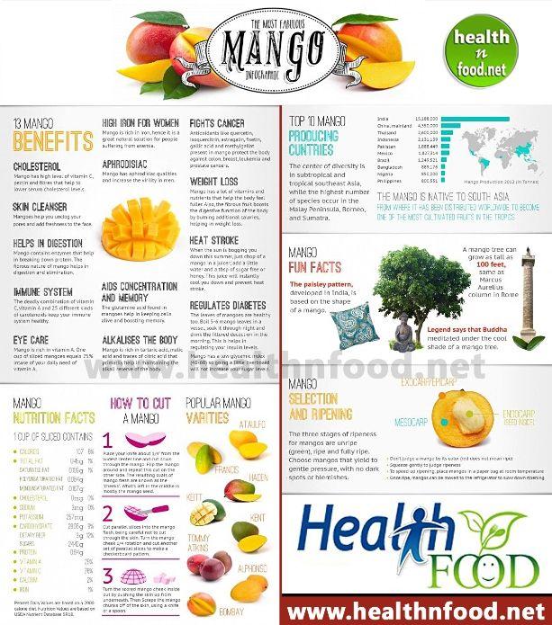 Mango Health Benefits Infographic