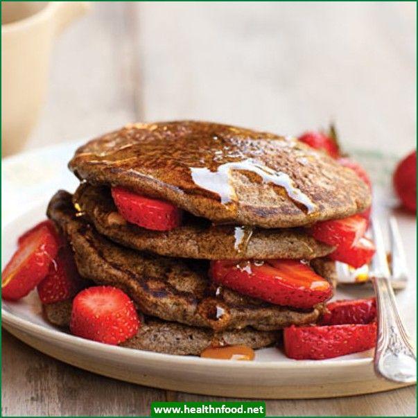 Buckwheat Flax Pancakes with Walnuts