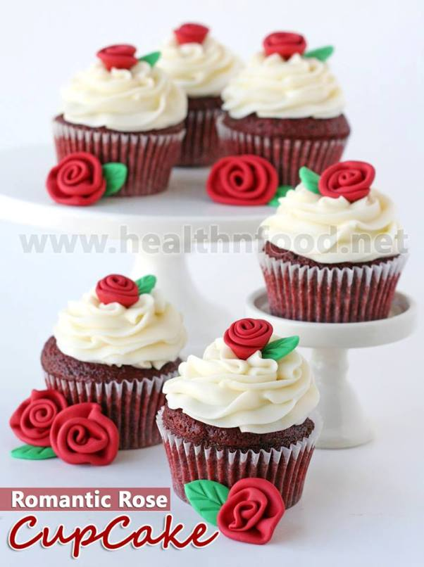 Rose Flavored Cupcakes Recipe