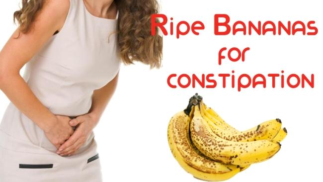 Try bananas for mild constipation