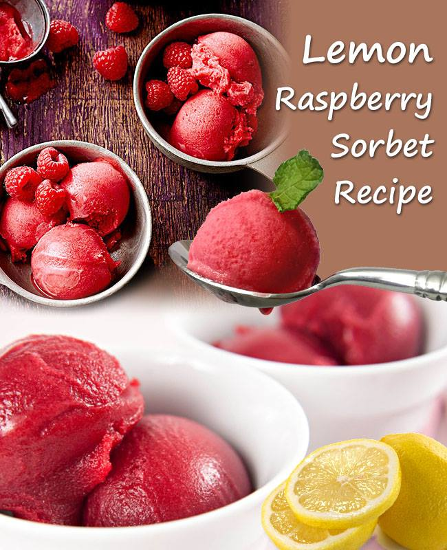 How to make Homemade Lemon Raspberry Sorbet